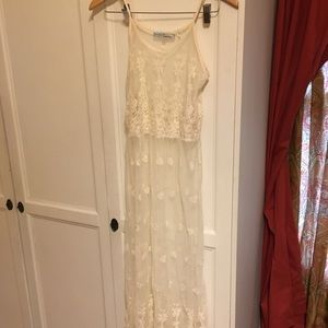 Ivory/cream lace maxi dress or cover-up
